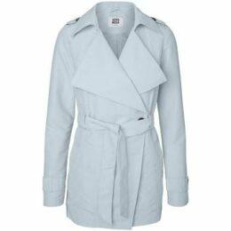 Vero Moda  - Baby Blue Score Cross Over Wrap Spring Trench Coat  women's Trench Coat in Blue