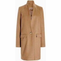 Anastasia  - Womens Camel Single Button Smart Coat  women's Coat in Beige