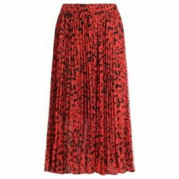 MICHAEL Michael Kors  pleated midi skirt with floral leaf print  women's Skirt in Other