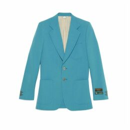 Camden wool cotton jacket with labels