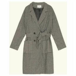 Frnch  Mid-length houndstooth coat SANIA  women's Coat in Black