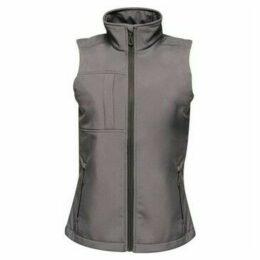 Professional  Octagon II 3 Layer Softshell Body Warmer Grey  women's Coat in Grey
