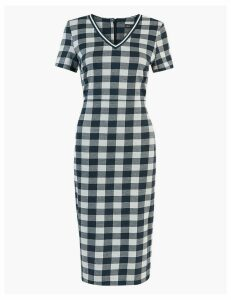 M&S Collection Gingham Jersey Bodycon Dress