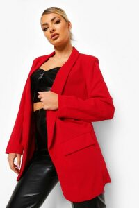 Womens Tailored Blazer - 14, Red