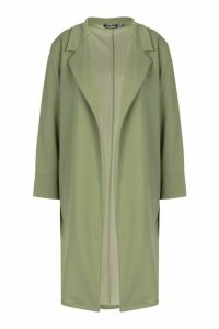 Womens Tailored Duster Coat - green - 14, Green