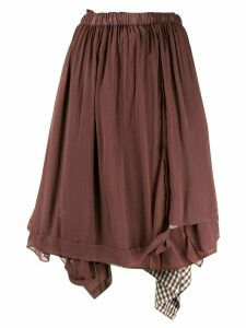 Comme Des Garçons Pre-Owned double-layer skirt - Brown