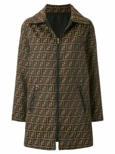 Fendi Pre-Owned Zucca pattern straight coat - Brown