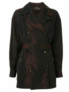 Chanel Pre-Owned belted trench coat - Black