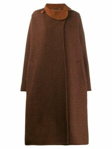 Pierre Cardin Pre-Owned 1970s checked coat - Brown