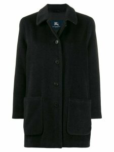 Burberry Pre-Owned 1990s cutaway collar coat - Black