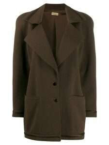 Versace Pre-Owned 1980s buttoned coat - Brown