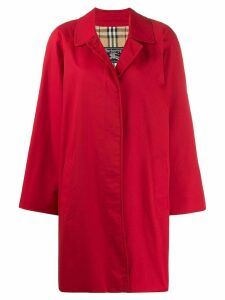 Burberry Pre-Owned 1980s cutaway collar coat - Red