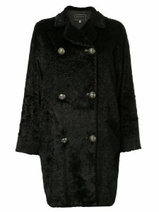 Versace Pre-Owned wave pattern coat - Black