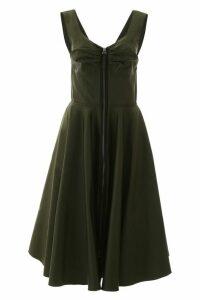 Marni Zipped Mikado Dress