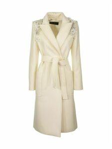 Max Mara Wool And Cashmere Coat Tempra White