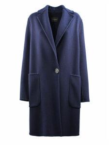 Antonelli Blue Coat In Virgin Wool