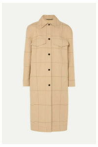 By Malene Birger - Keiko Checked Cotton And Linen-blend Canvas Trench Coat - Beige