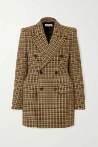 Balenciaga - Double-breasted Checked Wool Blazer - Brown