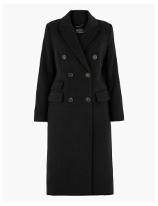 M&S Collection Longline Double Breasted Overcoat