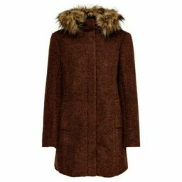 Only  ABRIGO PARA CHICA  women's Coat in Brown