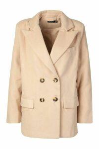 Womens Wool Look Blazer - beige - 12, Beige