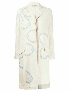 Prada Pre-Owned 1990s printed coat - NEUTRALS