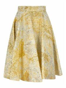Dolce & Gabbana Metallic Pleated Skirt