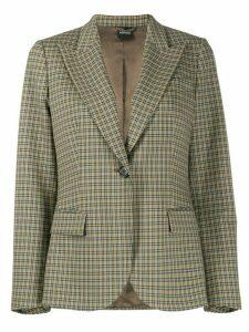 Aspesi checked blazer - Grey