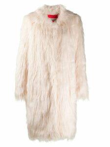 Philosophy Di Lorenzo Serafini faux-fur coat - White