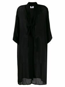 Alchemy sheer mid-length coat - Black