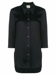 Khaite Nayla elongated-back shirt - Blue