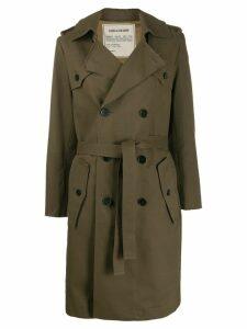 Zadig & Voltaire Mia trench coat - Green