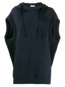 MRZ sleeveless hooded vest - Blue