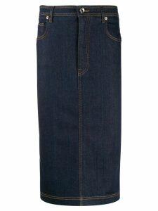 Dolce & Gabbana denim pencil skirt - Blue