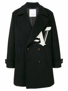 Ports V double buttoned logo coat - Black
