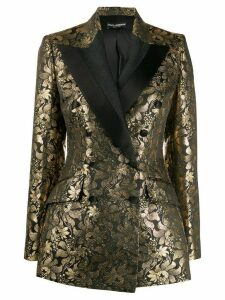 Dolce & Gabbana double breasted jacquard blazer - Black