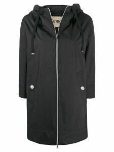 Herno rubberised hooded coat - Black