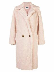 Apparis faux fur coat - PINK