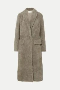 The Row - Muto Belted Shearling Coat - Gray