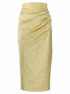 Dolce & Gabbana metallic silk skirt - GOLD