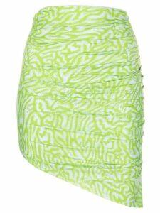 Maisie Wilen graphic-print asymmetric skirt - Green