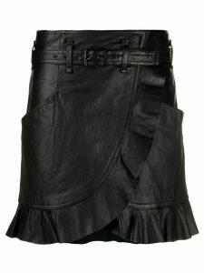 Isabel Marant Étoile ruffle wrap skirt - Black