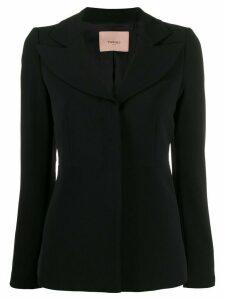 Twin-Set tailored peaked lapel blazer - Black