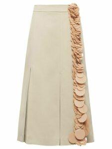 Prada sequin trim skirt - NEUTRALS