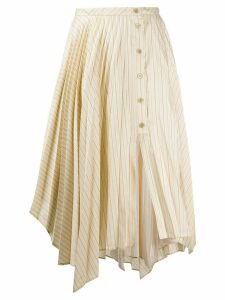 Acne Studios pinstripe asymmetric skirt - NEUTRALS