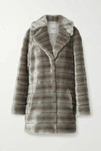Faz Not Fur - Oh My Deer Hoodless Faux Fur Coat - Silver