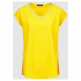 Diamantine Pure Création Maroca  Daphine  women's Blouse in Yellow