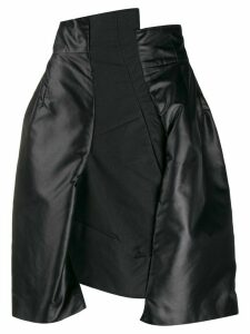 Comme Des Garçons Pre-Owned 1990s asymmetric panelled skirt - Black