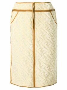 Fendi Pre-Owned Zucca print skirt - Brown