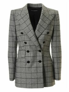 Dolce & Gabbana Double Breasted Checked Blazer